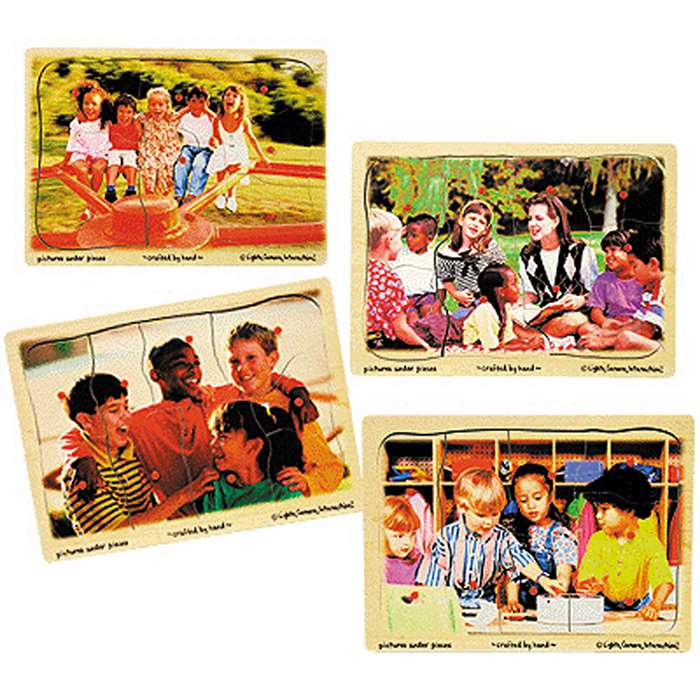 Puzzle Ethnic Diversity Set Of 4 By Melissa & Doug