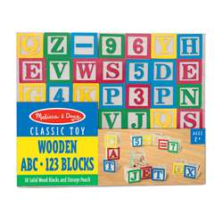 Wooden Abc/123 Blocks By Melissa & Doug