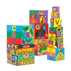 Alphabet Nesting & Stacking Blocks By Melissa & Doug