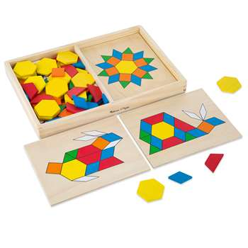 Wooden Pattern Blocks & Boards By Melissa & Doug