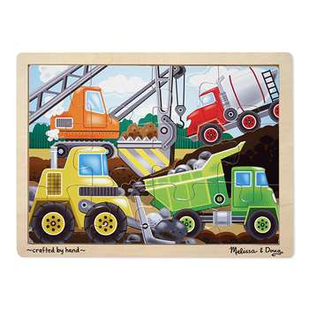 Wooden Jigsaw Puzzles Construction By Melissa & Doug