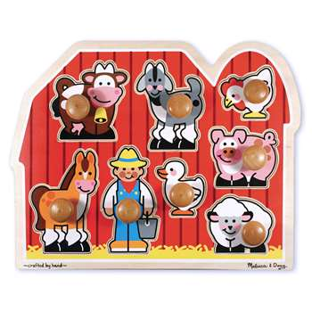 Large Farm Jumbo Knob Puzzle By Melissa & Doug