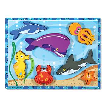 Sea Creatures Chunky Puzzle By Melissa & Doug