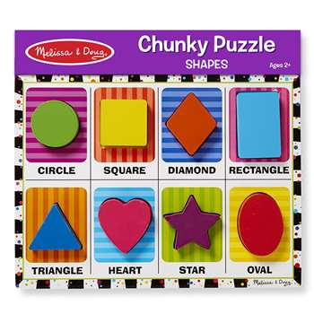 Shapes Chunky Puzzle By Melissa & Doug