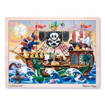 Pirate Adventure Jigsaw Puzzle (Wooden 48 Pieces) By Melissa & Doug