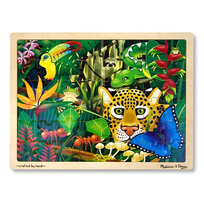 Rain Forest 48-Pc Wooden Jigsaw Puzzle By Melissa & Doug