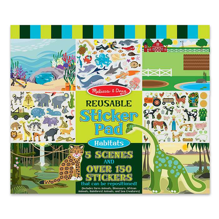 Reusable Sticker Pad Habitats By Melissa & Doug