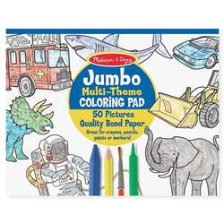 Jumbo Coloring Pad Blue 11 X 14 By Melissa & Doug