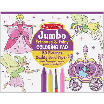 Jumbo Coloring Pad Princess & Fairy By Melissa & Doug