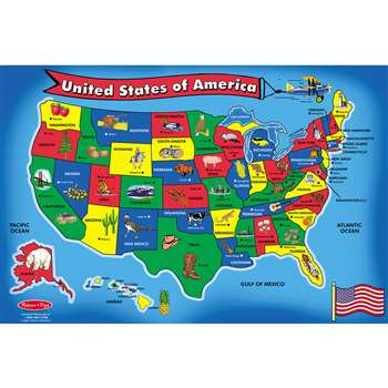 Floor Puzzle U.S. Map By Melissa & Doug