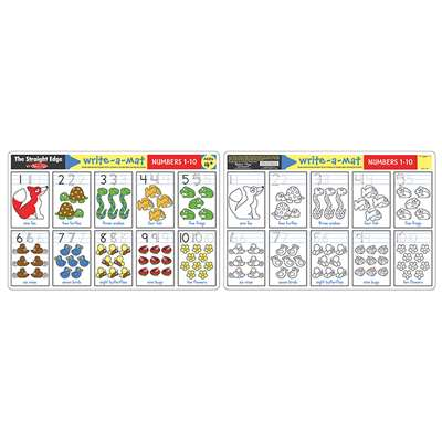 Numbers 1-10 Write A Mat 6Pk By Melissa & Doug