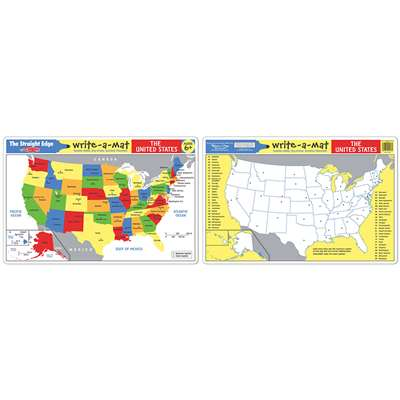 The United States Write A Mat 6Pk By Melissa & Doug
