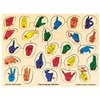 Puzzle Sign Language Alphabet Peg By Melissa & Doug