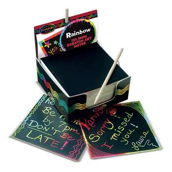 Box Of Rainbow Mini Notes 125 Cards By Melissa & Doug