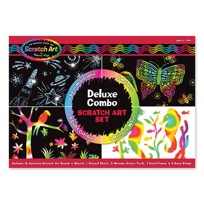 Deluxe Combo Scratch Art Set By Melissa & Doug