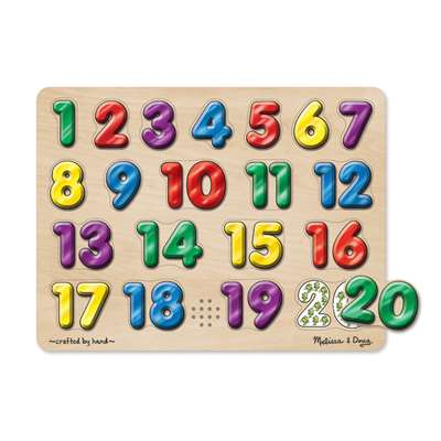Spanish Numbers Sound Puzzle 20 Pcs By Melissa & Doug