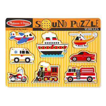 Vehicles Sound Puzzle By Melissa & Doug