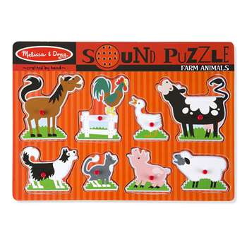 Farm Animals Sound Puzzle By Melissa & Doug