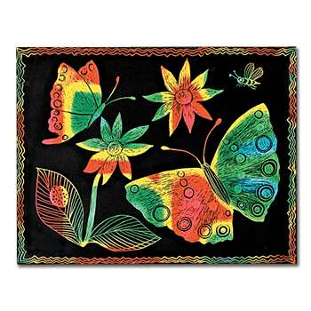 Scratch-Art Board 10 Sht Multi Color Soft-Scratch , LCI8050