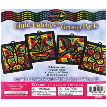 Scratch-Art Light Catcher Group Pk, LCI8243