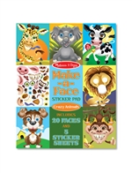 Make A Face Sticker Pad - Crazy Animals By Melissa & Doug