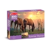 300 Pc Sunset Horses Cardboard Jigsaw, LCI8994
