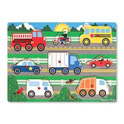 Vehicles Peg Puzzle, LCI9051