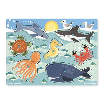 Sea Creatures Peg Puzzle, LCI9055