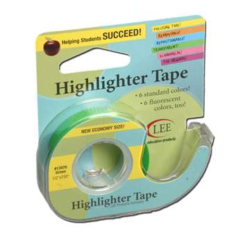Removable Highlighter Tape Green By Lee Products