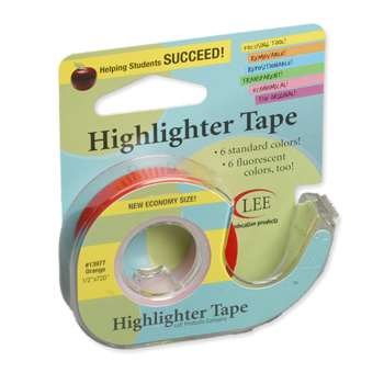 Removable Highlighter Tape Orange By Lee Products