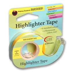 Removable Fluorescent Yellow Highlighter Tape By Lee Products