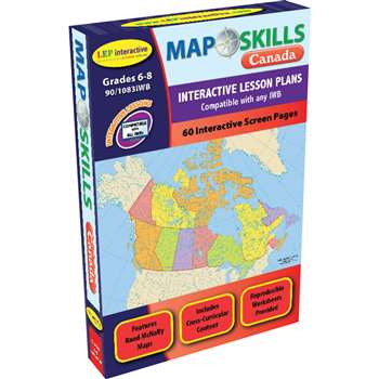 Map Skills Canada Interactive White Board Software By Milliken Lorenz Educational Press