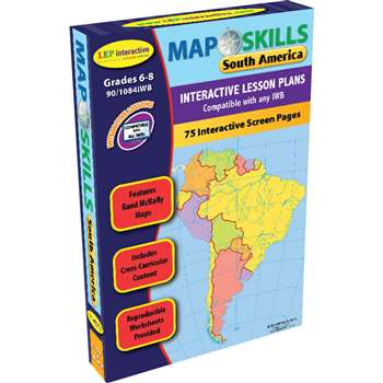 Map Skills South America Interactive Whiteboard Software By Milliken Lorenz Educational Press