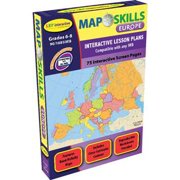 Map Skills Europe Interactive White Board Software By Milliken Lorenz Educational Press