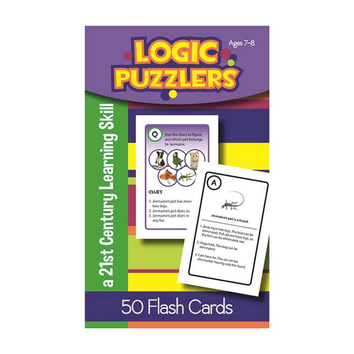Logic Puzzlers Flash Cards Gr 2, LEP901101LE