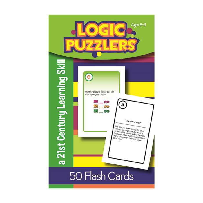 Logic Puzzlers Flash Cards Gr 3, LEP901102LE
