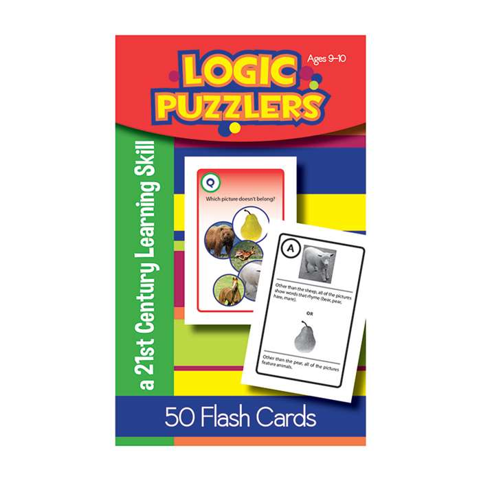 Logic Puzzlers Flash Cards Gr 4, LEP901103LE