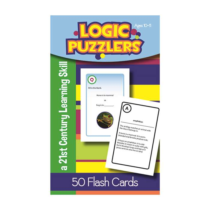 Logic Puzzlers Flash Cards Gr 5, LEP901104LE