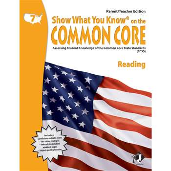 Gr 7 Parent Teacher Edition Reading Show What You Know On The Common By Milliken Lorenz Educational Press