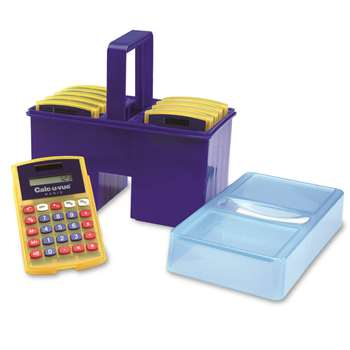 Calculator Caddy W/ 10 Student Calculators By Learning Resources