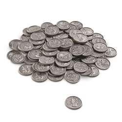Play Money Quarters 100/Pk Plastic By Learning Resources