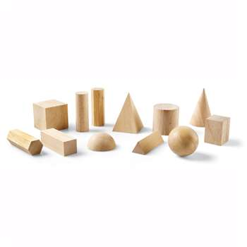 Hardwood Geometric Solids 12-Pk By Learning Resources