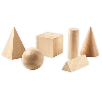 Basic Geometric Solids Set Of 6 By Learning Resources