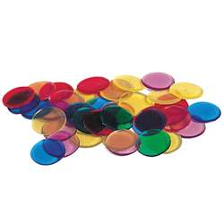 Transparent Counters 250-Pk 3/4 6 Colors By Learning Resources