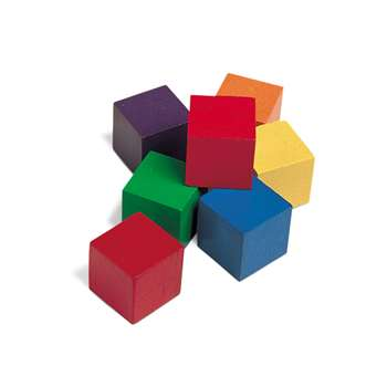 Cubes Wood 1 Inch 100 Pk 6 Colors By Learning Resources