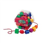 Plastic Lacing Beads By Learning Resources