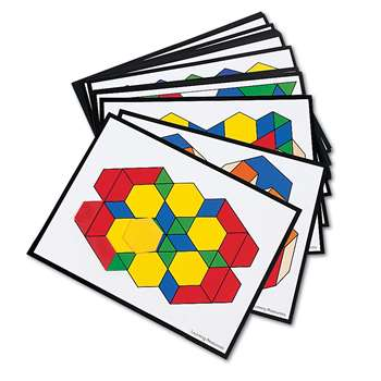 Intermediate Pattern Block Cards 36 Designs By Learning Resources