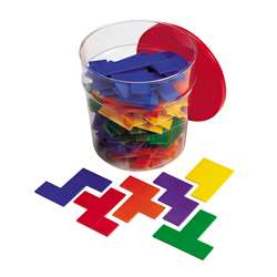 Rainbow Premier Pentominoes 6 Sets In Clear Tub By Learning Resources
