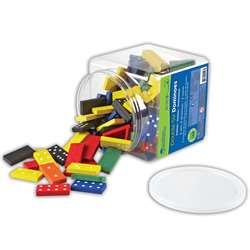 Dominoes Double-Six Color Bucket 6 Sets 168 Total By Learning Resources