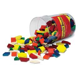 Pattern Blocks Wooden 250/Pk 1Cm In Bucket By Learning Resources